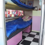 Sleeping area for 2 small children - bedding included